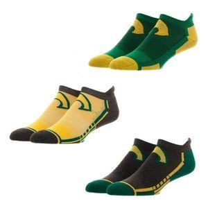 Aquaman 3 Pack Men's Athletic Ankle Socks DC Comic